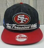 San Francisco 49ERs New Era 9Fifty NFL Snapback Hat Cap Red/Black NWOT