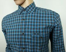 Hugo Boss Slim Fit Shirt Blue Gingham Check Size M Medium 15.5 - 40 New RRP£110
