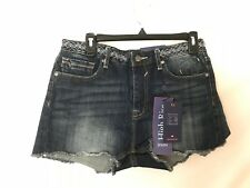 VIGOSS Women's Embroidered High Rise Jean Jagger Shorts Size W30 L2 New