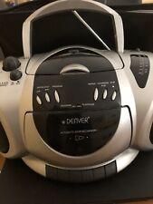 Tragbarer Stereo CD Kassettenrecorder mit Radio Denver TCD-40