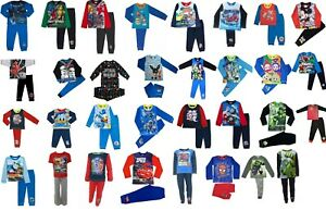 Boys Character Pyjamas. Ages 12 Months to 10 Years. Official Licensed Designs