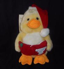 VINTAGE JC PENNY CHRISTMAS CAROL'S MUSICAL YELLOW DUCK STUFFED ANIMAL PLUSH TOY