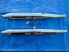 VINTAGE BMW AIRHEAD /2 EXHAUST MUFFLERS PIPES SET PAIR EXCELLENT CONDITION