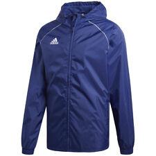 adidas Core 18 Team Rain Jacket Navy Blue Water Resistant Sports Track Coat L