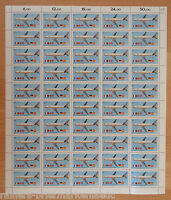 Bund BRD CEPT 1367 kompl. Bogen Europa Transportmittel postfrisch Full sheet