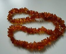 Beautiful long Polished Baltic Honey Amber necklace 66 grams SALE