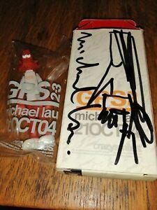 Michael Lau Crazysmiles Figure 2004 sealed bag boxed and Autographed Mint