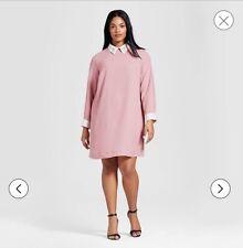 Victoria Beckham For Target Womens Bunny Rabbit Blush Pink Collared Dress 3X