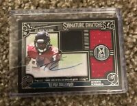 Tevin Coleman Topps Signature Swatches Triple Jersey Auto Card /200