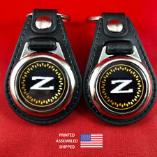 Nissan Datsun 300ZX Z31 Emblem Key Fob Key Ring Keychain (2-Pack)