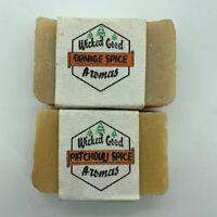 Wicked Good Aroma Handmade Soap Patchouli Orange Spice Bar Soap 2 Pk Palm Oil