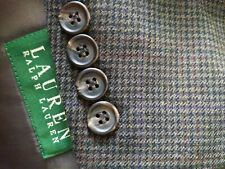 48S Ralph Lauren Purple Red Tooth Check Plaid Wool Blazer Sport Coat Jacket blue