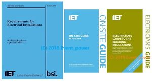 NEW 18th BS 7671 & OSG & Building Regs Blue Regs On Site Guide Part P