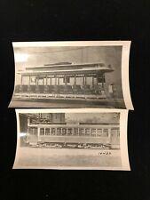 OLD  Allston Via Brookline Village Harvard Street, MA Trolley Car Photographs