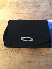 VINTAGE  1940S EVENING CLUTCH WITH  WRIST STRAP BLACK PURSE