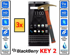 3x Genuine 100% TEMPERED GLASS HD Screen Cover Protector For Blackberry Key2