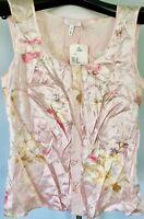 **34*4** ESCADA shine pink 100% silk tank top cami dress blouse jacket tunic tee