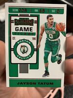 2019-20 Jayson Tatum Panini Contenders Game Ticket Red SP #43 Boston Celtics