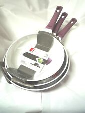 BERGNER CERAMIC FRYING PAN SET 24CM 26CM 28CM SET OF 3 COOKING FRY PAN BRAND NEW