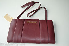 MICHAEL Michael Kors Daria claret red Leather Pleated Clutch NEW Authentic