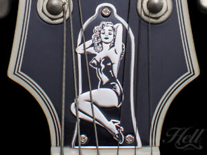 PIN-UP Brass Truss Rod Cover. Fits most Epiphone, Les Paul, SG + more