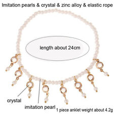 Jewelry Elastic Bracelet Barefoot Girl Pearl Anklet Foot Jewelry Crystal
