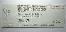 BILL WYMAN`S RHYTM KINGS Concert Ticket Stub 2004 Cheltenham Town Hall