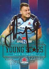 ✺Signed✺ 2017 NSW WARATAHS Rugby Union Card JACK DEMPSEY Young Stars