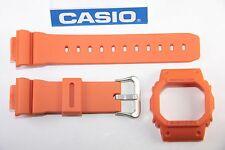 Genuine Casio G-Shock DW-5600M-4 New Orange Watch Band & Bezel Combo DW-5600E
