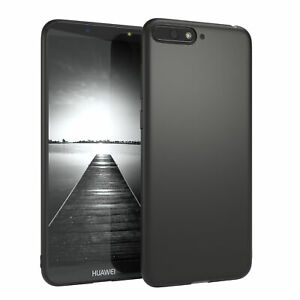 For Huawei Y6 2018 cover Soft Case Silicone Protection Slim Matt Black