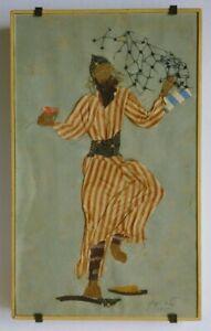 Ella Raayoni Fabric Collage Vienna Austria Yemen Dancer Israel Modern Art Jewish
