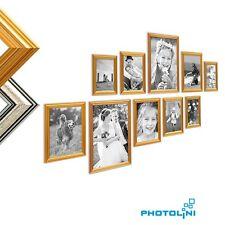 Bilderrahmen-Set Antik-Stil Barock Kunstoff-Rahmen Gold Silber Bilder Fotorahmen