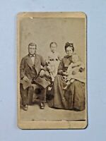 Antique 1800's CDV Photo Family Mother Father 2 Young Daughters 6553