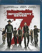 The Magnificent Seven (Blu-ray, WS, 2016) Denzel & Chris Pratt!! ShipsFREE!!
