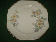 AMERICAN LIMOGES SQUARE FLORAL DINNER PLATE