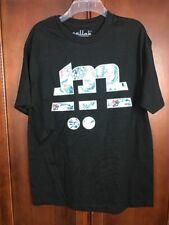 Mallak Men Black T-Shirt Size Large Logo