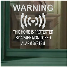 6 x HOME Security-24hr Alarm System Warning Security Signs-Window Stickers Set