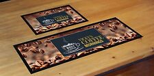 PERSONALISED COFFEE MORNINGS MAT LABEL BAR RUNNER IDEAL HOME PUB CAFE OCCASION