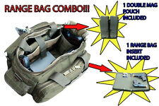 Ultimate Deluxe Tactical OD Range Bag + 1 Double Mag Pouch + 1 Gun Cover H-Duty