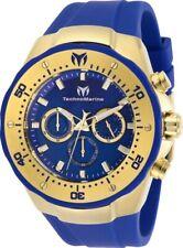 Technomarine TM-218031 Manta Men's 48mm Gold-Tone Blue Dial Watch