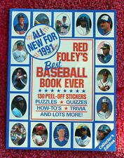1991 RED FOLEY STICKER BOOK Ozzie Smith Frank Thomas Andy Van Slyke Oddball