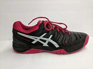 Asics Gel-Challenger Tennis Shoes, Black/Pink, Womens 11