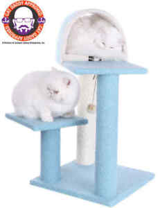 """Sky Blue Armarkat Cat Tree Condo Bed Scratching Post Perch Tower B2903 30"""""""
