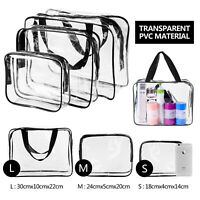 TSA Approved Toiletry Bag Clear Travel Cosmetics bag for Women and Men (Black)