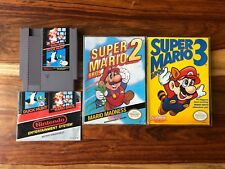 Super Mario Bros Trilogy 1 2 3 and Duck Hunt Nintendo NES Bros Manual Box