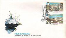 Chile 1990 FDC Puertos Chilenos