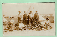 RP PC WW1 Military RFA Soldiers At Camp Cleaning Tack At Camp Shrewton Wiltshire