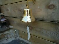 Large Ships Brass Bell with Rope 1020 Gr in weight Nautical Bar Pub A Nice Gift