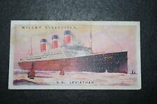 SS LEVIATHAN  United States Lines Ocean Liner   Original 1920's Vintage Card