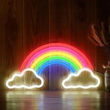 LED Neon Schild Regenbogen Wolke Lampe Licht Wandleuchte Deko Nachtlicht Leuchte
